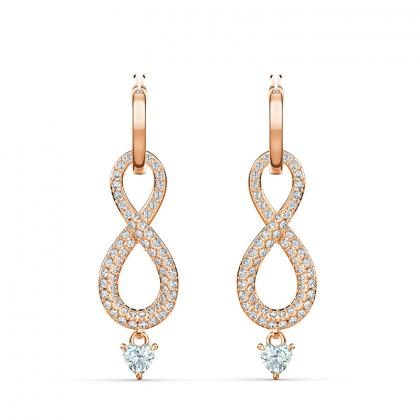 Swa infinity boucles d'oreilles ros